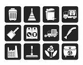 Silhouette Cleaning Industry and environment Icons