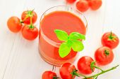 Healthy Food Juice Red Cherry Tomatoes