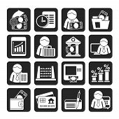 Silhouette Bank and Finance Icons