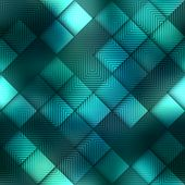 Matrix geometric pattern on green background.