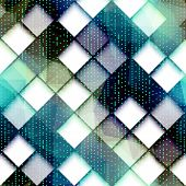 Abstract computer pattern with the green dots.