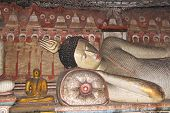 Reclining Buddha in Dambulla Cave Temple