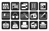 Silhouette Library and books Icons