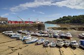 Boats at Rozel, Jersey