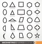 stock photo of pentagram  - Set of geometric shapes - JPG