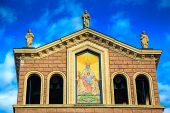Upper Part Of Black Madonna Church In Tindari