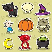 1 Set Of Halloween Icons.eps