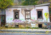 image of kiev  - Ruined old house in the center of Kiev Ukraine - JPG