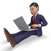 picture of encoding  - Businessman Typing Showing World Wide Web And Website - JPG
