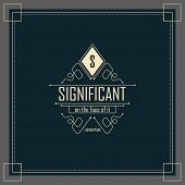 stock photo of boutique  - Luxury Logo template flourishes calligraphic elegant ornament lines - JPG