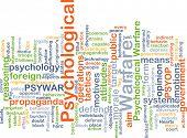 picture of psychological  - Background concept wordcloud illustration of psychological warfare - JPG