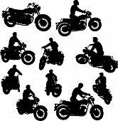 Motorbike Silhouettes