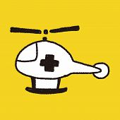 picture of rescue helicopter  - Doodle Helicopters - JPG