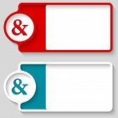 picture of ampersand  - Colored boxes for your text and ampersand - JPG