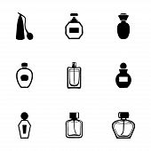 foto of perfume  - Vector perfume icon set on white background - JPG
