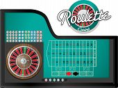 pic of roulette table  - a set of roulette game with table - JPG