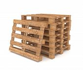 picture of pallet  - 3d rendering of shipping pallets over white background - JPG