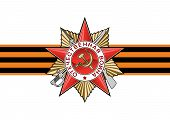 picture of victory  - Order of the Patriotic war and George Ribbon in vector isolated over white - JPG