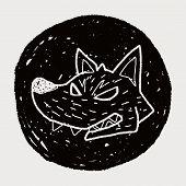 picture of werewolf  - Werewolf Doodle - JPG