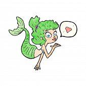 picture of mermaid  - cartoon mermaid blowing kiss - JPG