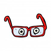 pic of spectacles  - cartoon eyes in spectacles - JPG
