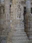 Intricate Carvings On Temple Columns