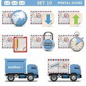 picture of truck-stop  - Postal Icons Set 10 - JPG
