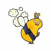 foto of bee cartoon  - cartoon flying bee - JPG