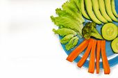 picture of vedic  - Vegetarian dish of vegetables on white background - JPG