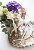 picture of wedding table decor  - Big bouquet of fresh flowers - JPG