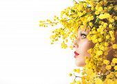 pic of mimosa  - Nature beauty makeup and style with mimosa - JPG