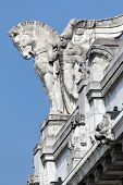 foto of winged-horse  - Stone facade of the Milan - JPG