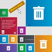 pic of reuse recycle  - Recycle bin Reuse or reduce icon sign - JPG