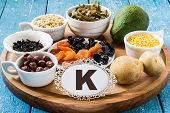 Постер, плакат: Products Containing Potassium k