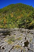 Unique Rock Formations along the Tellico River, Tennessee