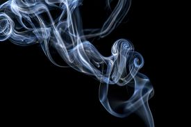 picture of smoke  - Abstract smoke on a black background - JPG