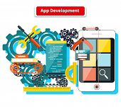 Постер, плакат: App Development Concept
