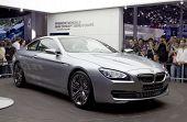 PARIS, FRANCE - OCT 10: BMW serie 6 on display at the Paris Motor Show at Porte de Versailles