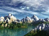 Sonnige Fjord