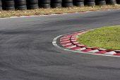 Empty Tarmac Race Track Corner