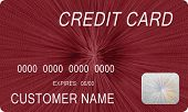 Mock Red Credit Card 1