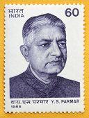 India -Circa 1988  Dr. Y.S. Parmar