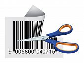 Scissors Cutting Bar Code