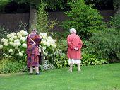 foto of elderly woman  - elderly women in garden - JPG