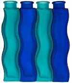 Wavy Blue Bottles
