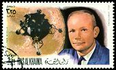 Vintage  Postage Stamp. Astronaut Neil Armstrong.