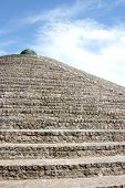 stock photo of dnepropetrovsk  - Pyramid of bricks against the sky Dnepropetrovsk Ukraine - JPG