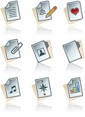 Design Elements 43A. Paper Works Icons Set