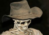 A Skeleton in an Old Cowboy Hat