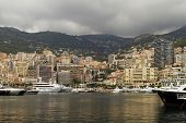 Monaco Harbor With Yatchs